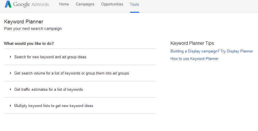 google keyword analysis tool