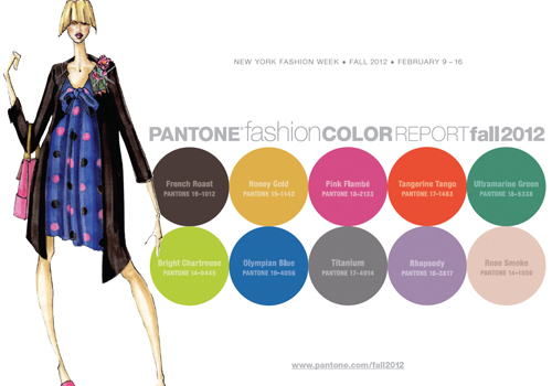FASHION VIGNETTE: >>TRENDS - PANTONE FASHION COLOR REPORT