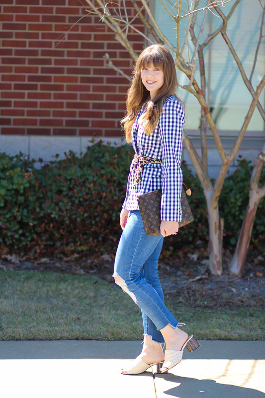 Gingham Blogger Style