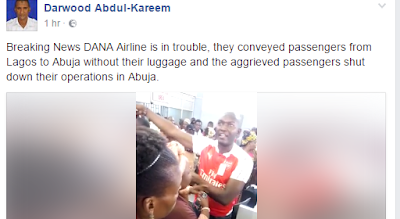 DANA Airline Conveys Passengers From Lagos To Abuja Leaving Their Luggage Behind