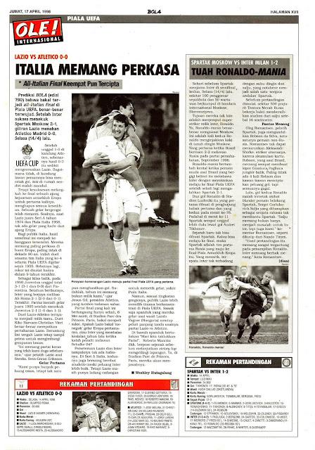 UEFA CUP 1998 LAZIO VS ATLETICO 0-0
