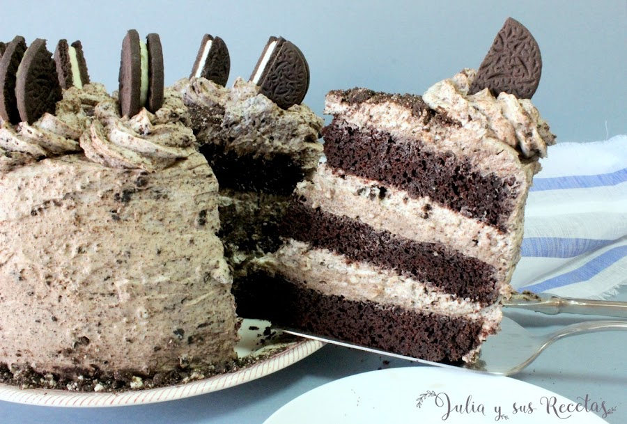 Chocolate oreo cake. Julia y sus recetas