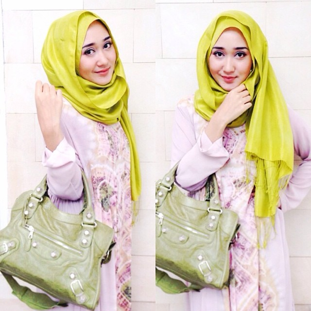 Tutorial hijab pashmina sifon dian pelangi