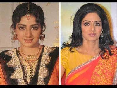 sridevi  used 29 time SURGERY for good looking