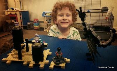 LEGO Minecraft set 21117 - The Ender Dragon complete