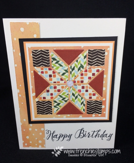 Easy Tips for the Quilted Builder Framelits, Feather Together, Painted Autumn Designer paper, Stampin'Up!