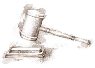 drawing of court gavel