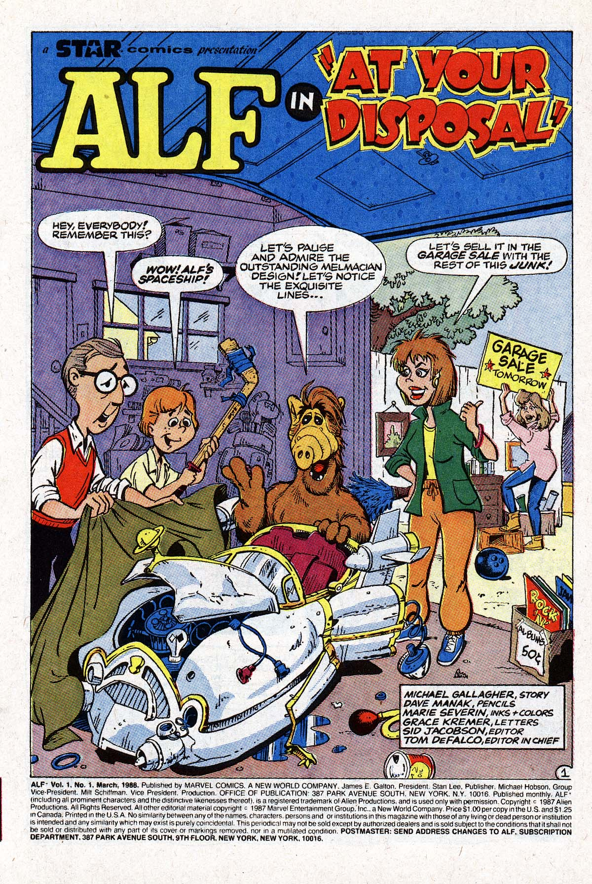 Read online ALF comic -  Issue #1 - 2
