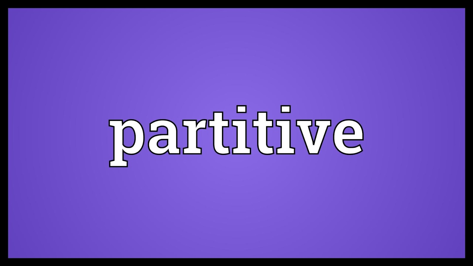 Partitive Proportion
