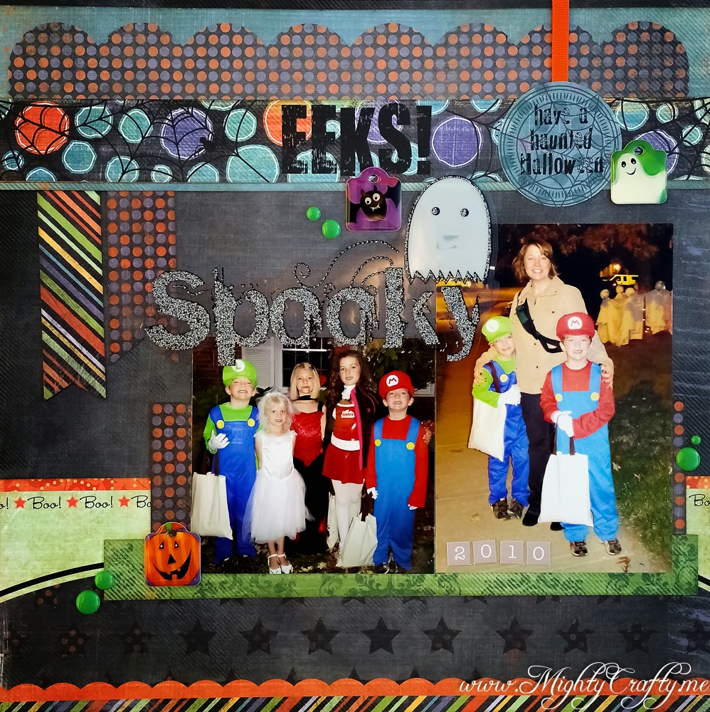 Eeks Spooky layout for Sketch N Scrap -- www.MightyCrafty.me