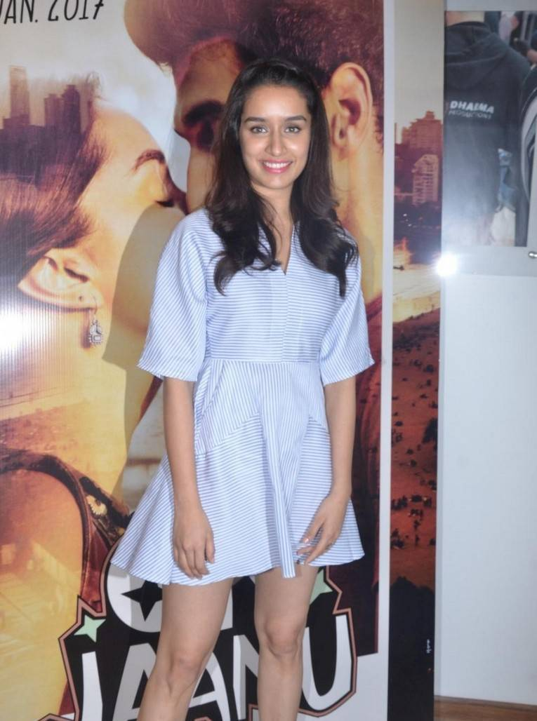 Bollywood Actress Stills In White Dress Shraddha Kapoor