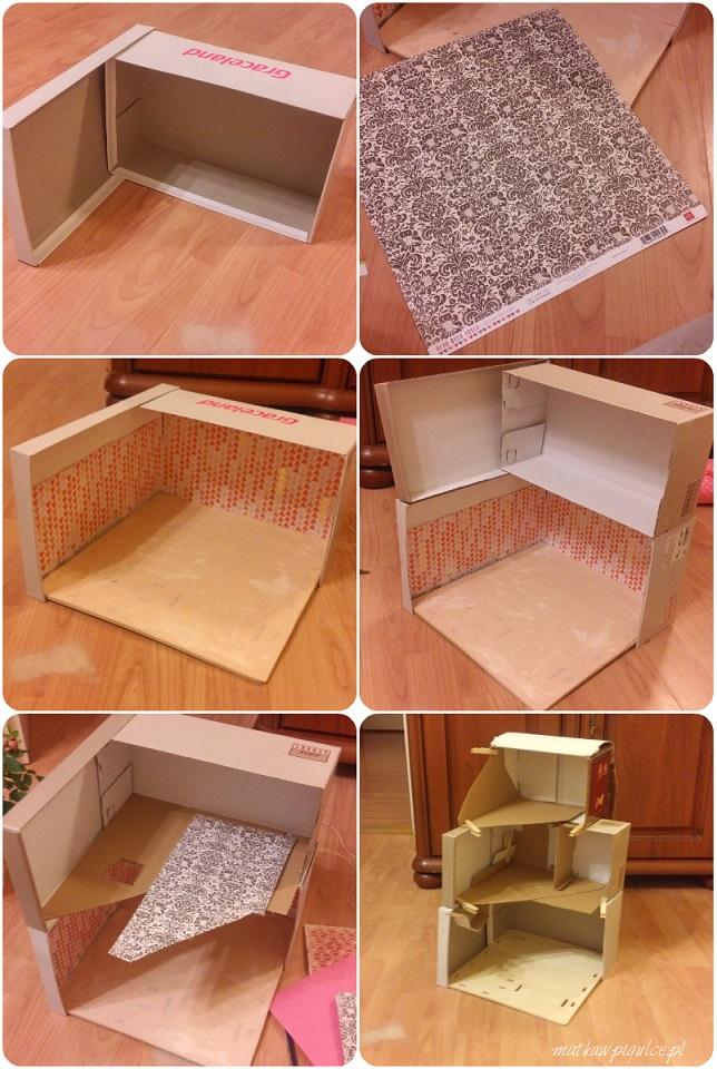 jak zrobić domek dla lalek z kartonu - instrukcja krok po kroku