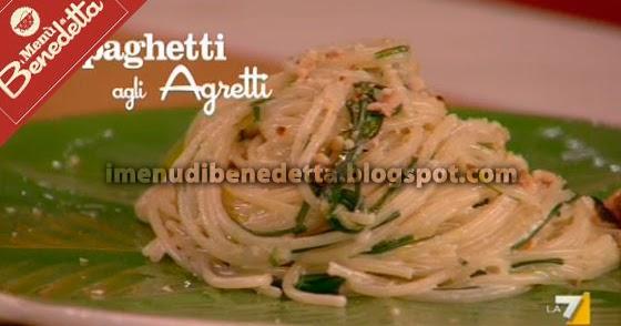 Spaghetti agli agretti o barba dei frati la ricetta di for Cucinare gli agretti