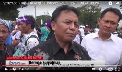 Video, Inilah Alasan Kemenpan Mengapa Honorer K2 Tidak Bisa Diangkat Jadi PNS
