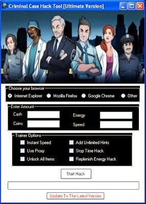 Hack All Games: Criminal Case Free Ultimate Hack Tool 2014