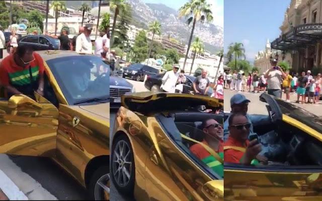 El FerrariDorado que impresionó a todos ¿Del hijo del corrupto de Deschamps?