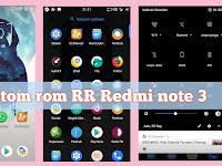 Install custom rom rr 6.2.0 oreo di redmi note 3 kenzo