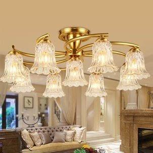 Ý tưởng trang trí biệt thự với đèn ốp trần thủy tinh nhập khẩu