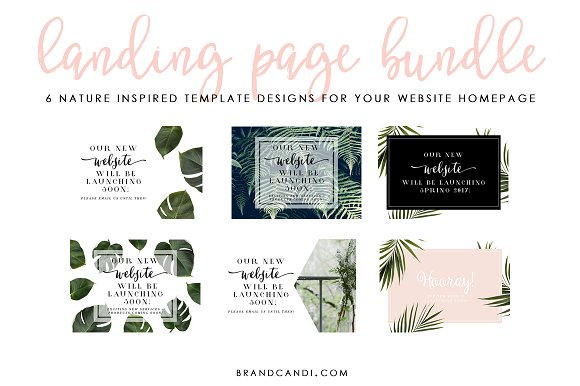 Website Landing Page Template Bundles