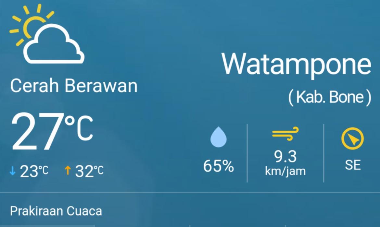 Mau Tahu Prakiraan Cuaca di Kabupaten Bone Hari Ini? Cek Di Sini
