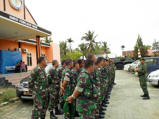 Koramil Jajaran Kodim 0104/Atim Amankan Kantor KIP Aceh Timur