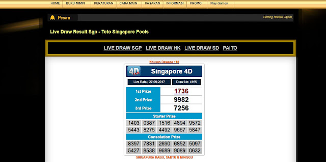Live Draw Result Sgp - Toto Singapore Pools | Bandar Togel