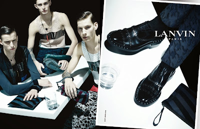 Lanvin Men Spring/Summer 2014 Campaign Featuring Alexandre Faye, Jeremy Matos & Laurie Harding