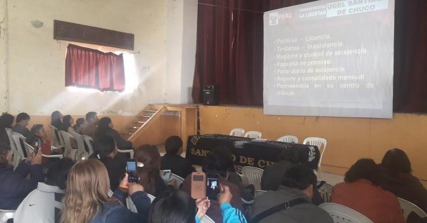 UGEL Santiago de Chuco realizó asistencia técnica a Directores para fortalecer capacidades de gestión