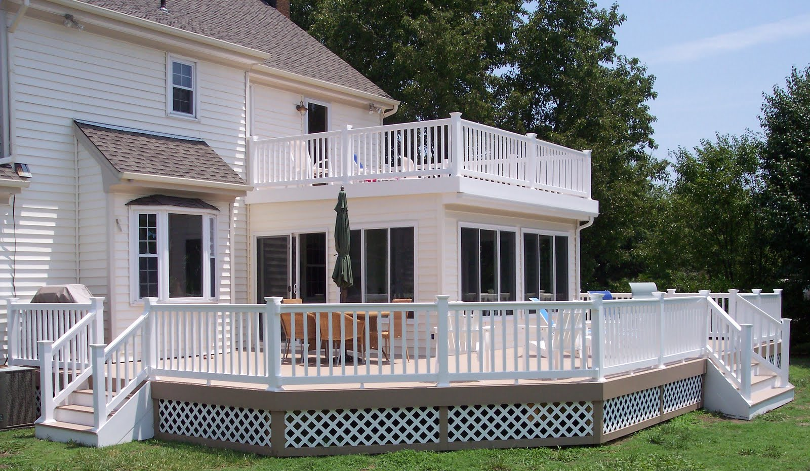 Archadeck Of Virginia Beach Just Finished A Beautiful Deck With 3 Season Room And Balcony In Pungo
