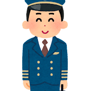 パイロットのイラスト(職業)