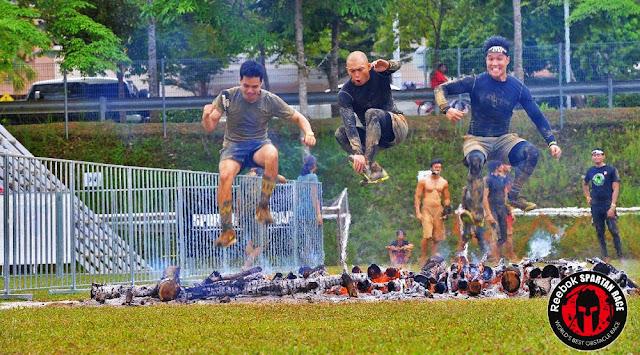 spartan race beast kl malaysia fire jump