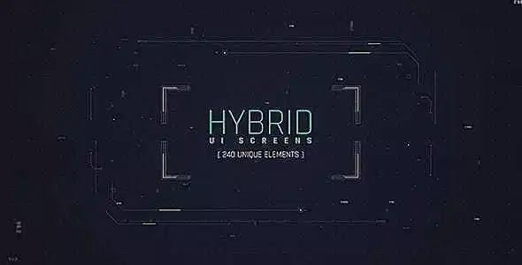 Videohive Hybrid Ui Screens/ HUD Pack/ Broadcast 240 Elements/ Digital/ Sci-fi Interface/ Technology/ Iron Man 19482085