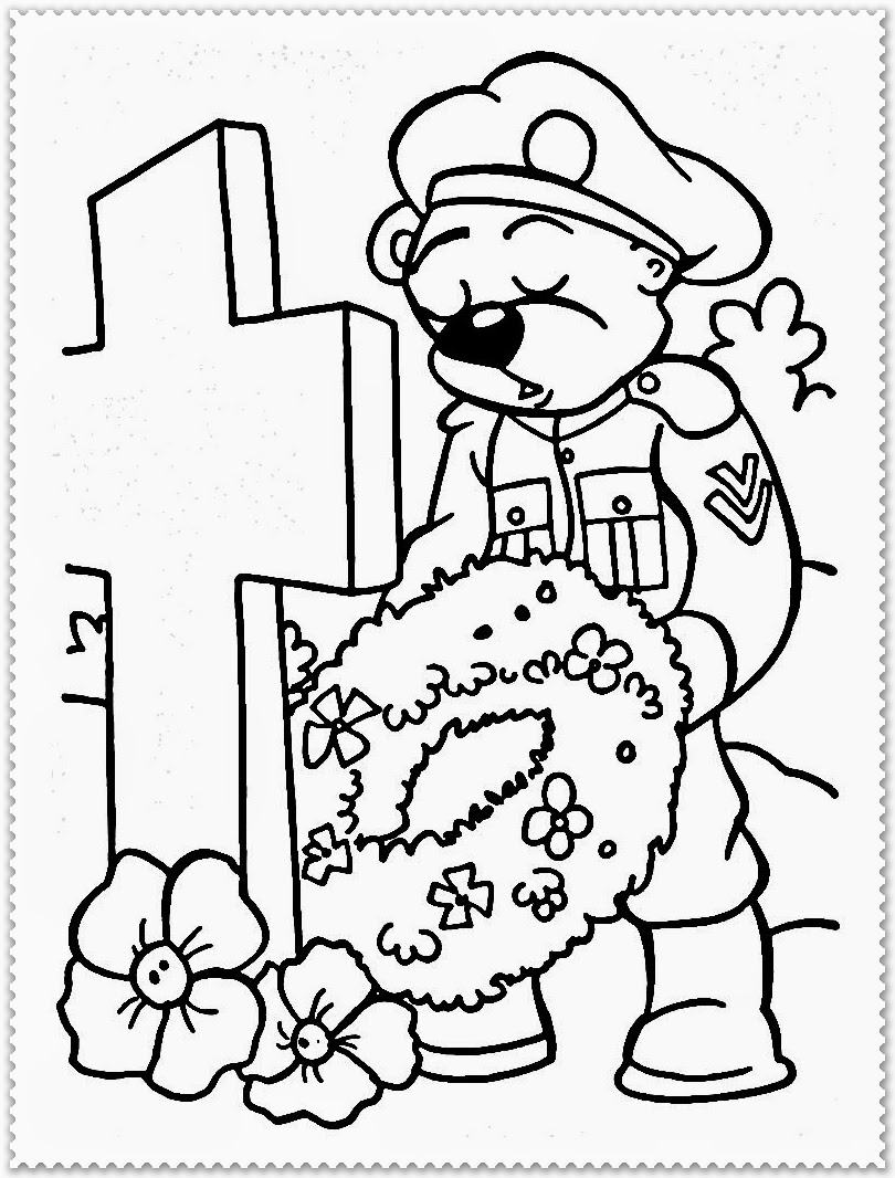 Remembrance Day Coloring Pages Realistic Coloring Pages