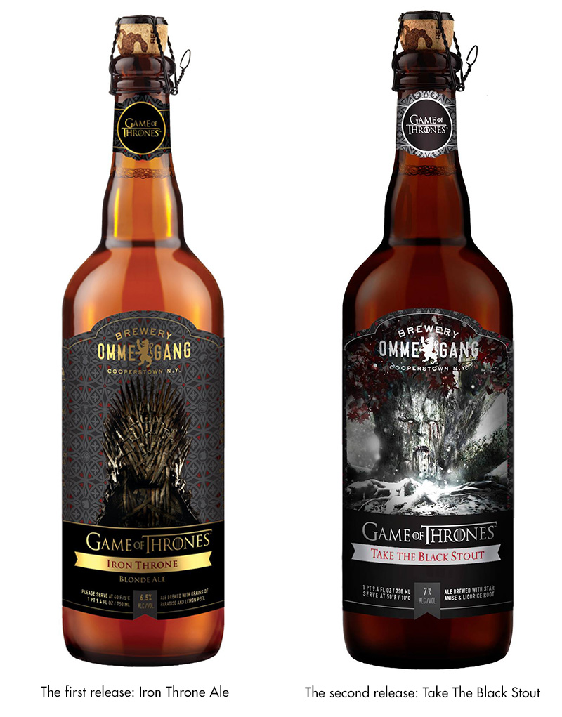 Game of Thrones Take The Black Stout and Iron Throne Beers