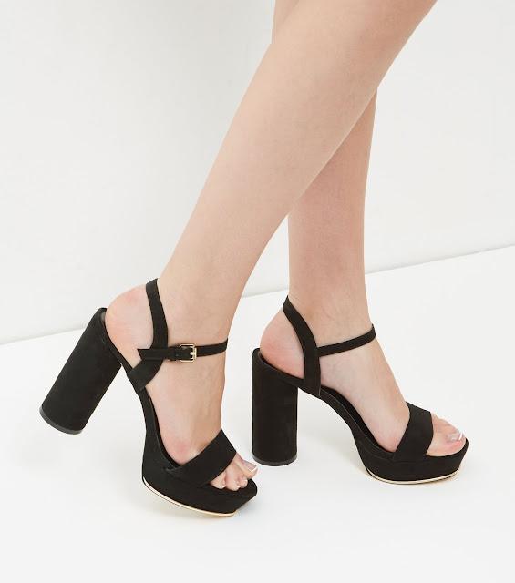 zapatos de plataforma con vestido