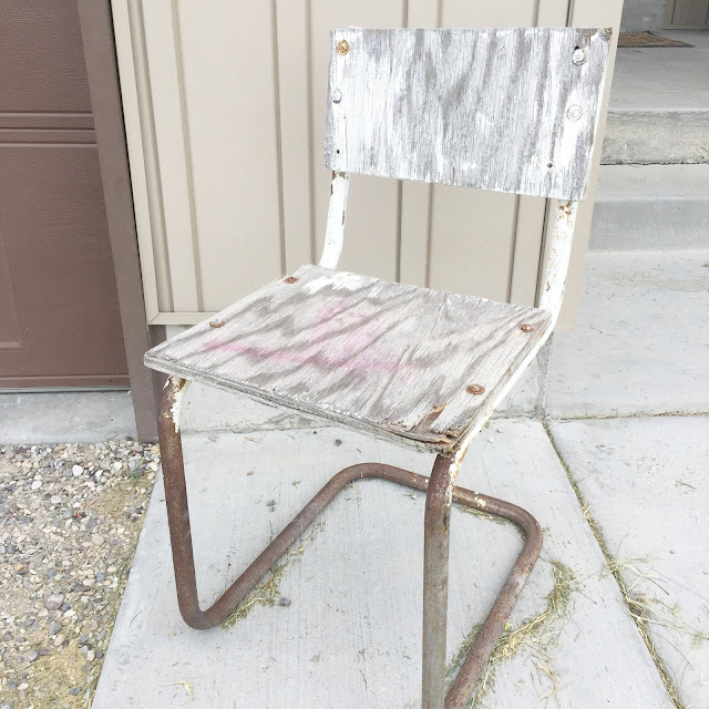 Metal Roadside Rescue Ugly Chair Before