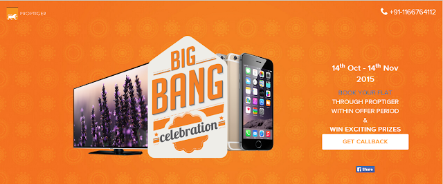 PropTiger.com launches The Big Bang Celebration with lucky draw prizes that include an iPhone 6S 64 GB and a Samsung TV