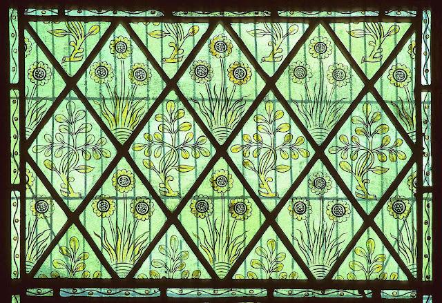 a William Morris decorative window color photograph