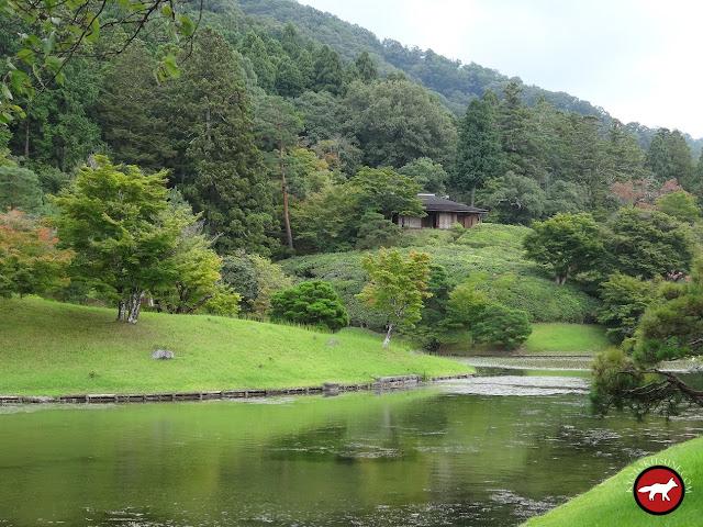 Maison de thé de la villa du haut du shugakuin de Kyoto