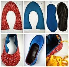 sapatilhas para adultos feitas de tecido
