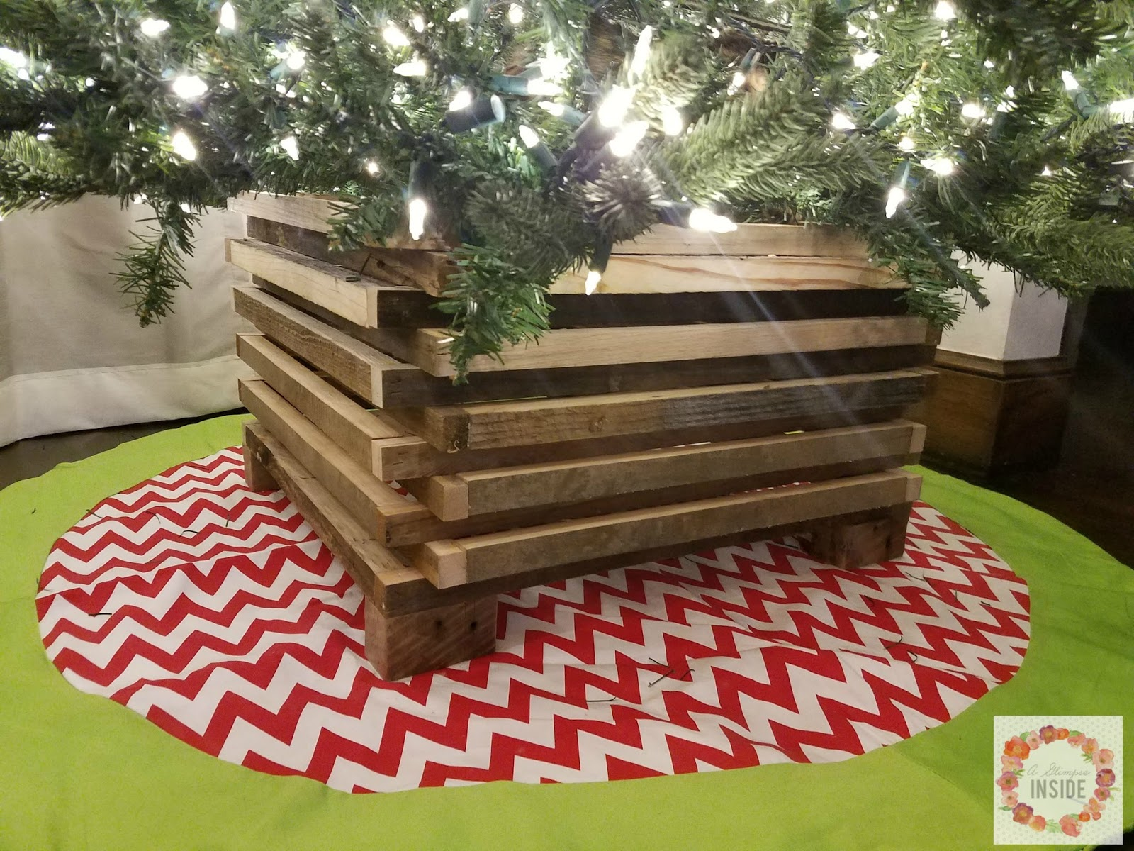 Diy Rustic Christmas Tree Stand A Glimpse Inside