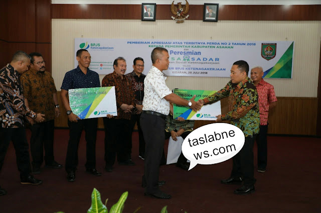 Penyampaikan apresiasi penerbitan Perda  BPJS Ketenaga Kerjaan.