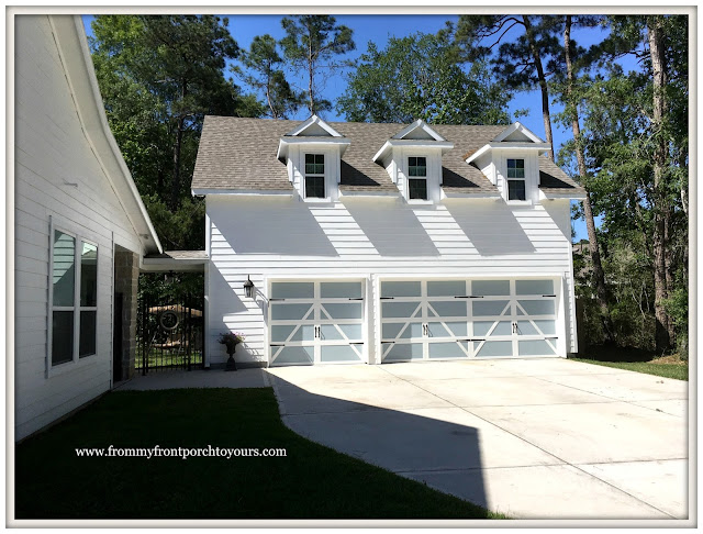 Garage Door Makeover-Detached Garage-Carriage House Hardware--Farmhouse-From My Front Porch To Yours