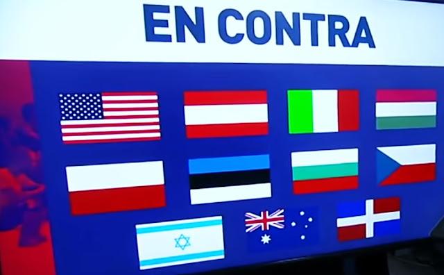 Estados Unidos se retiró del Pacto Mundial para la Migración promovida por la ONU, antes de las negociaciones en Marrakech, mientras que nueve países lo hicieron una vez que ya estaba terminado el documento en julio: Austria, Australia, Chile, República Checa, República Dominicana, Hungría, Letonia, Polonia y Eslovaquia.
