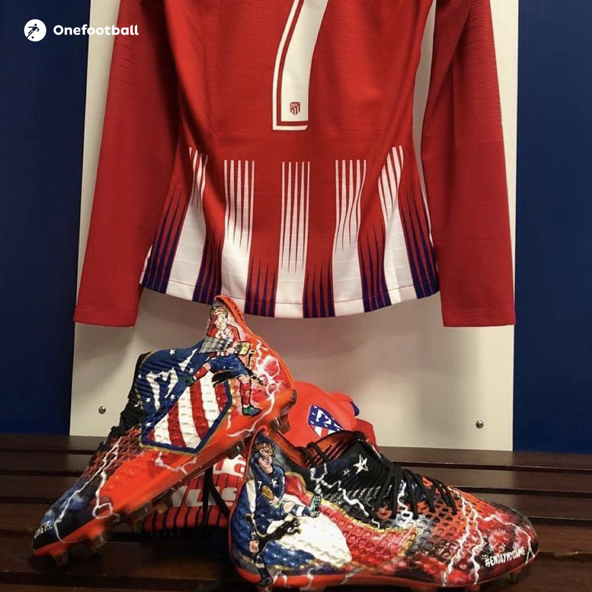Griezmann s custom football boots were not made by Puma but French artist  Pierre Navarro Maheva Blanchet 79dd749977cf