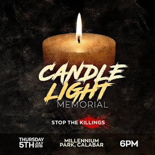 Candle light session in Calabar
