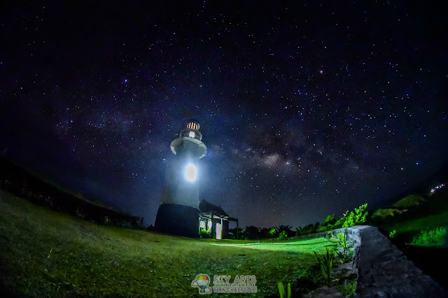 BASCO LIGHTHOUSE AT NAIDI HILLS BATANES CANDLE LIGHT DINNER AND MILKYWAY STARRY NIGHT