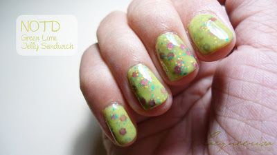 NOTD-Green Lime Jelly Sandwich