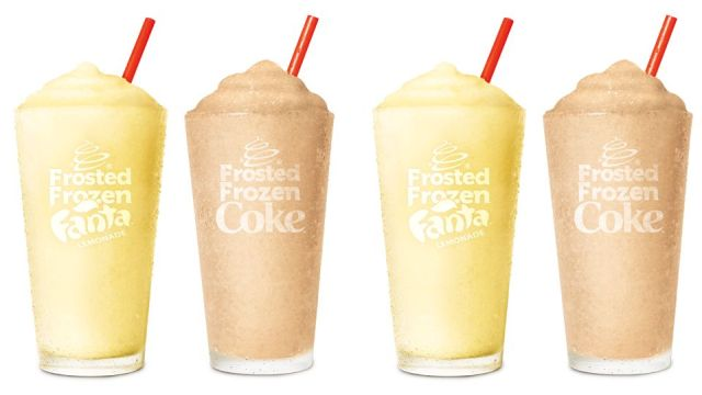 Burger King Pours New Frosted Frozen Coke And Fanta Lemonade
