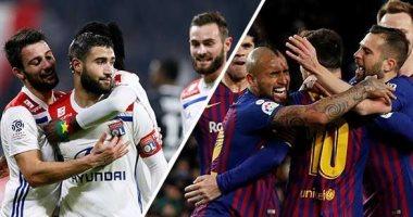 مباراة برشلونة وليون 19-02-2019 دوري ابطال اوروبا